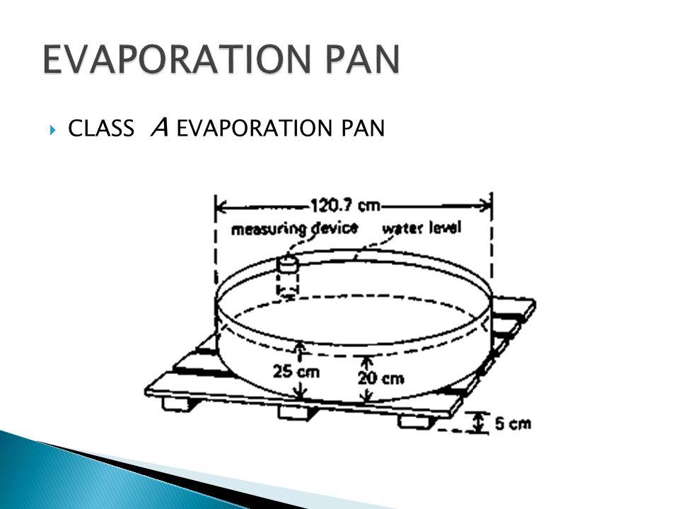 CLASS A EVAPORATION PAN