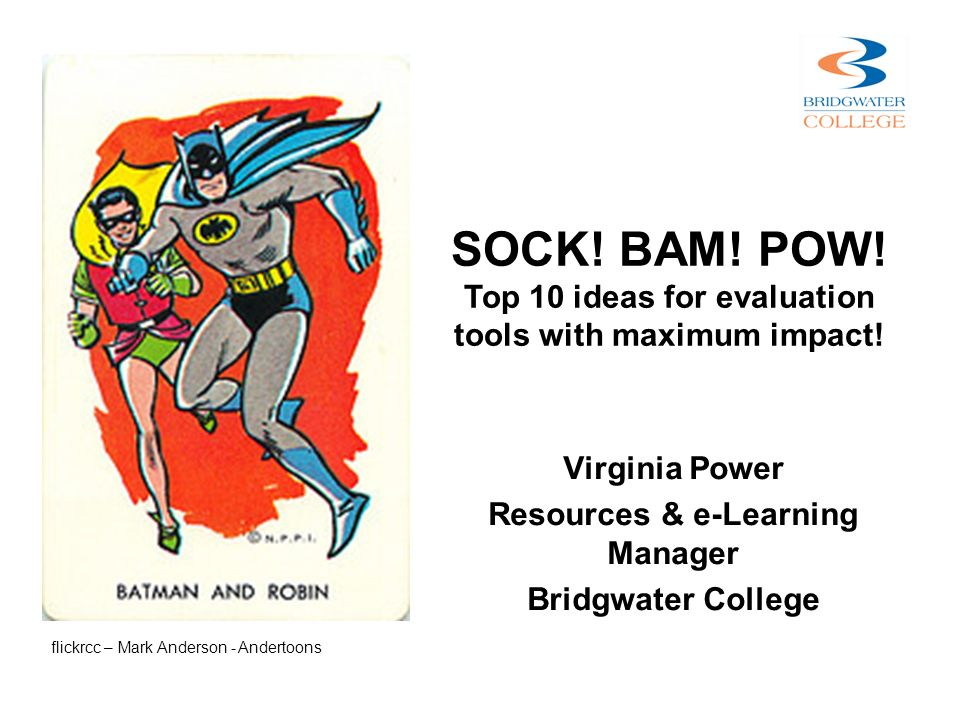 Virginia Power Resources & e-Learning Manager Bridgwater College SOCK.