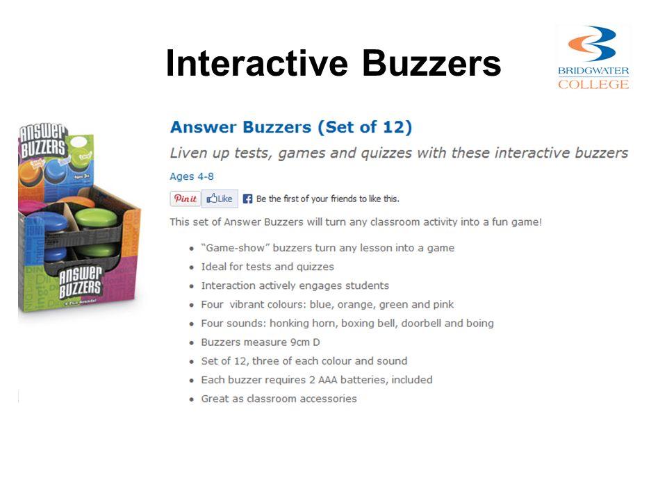 Interactive Buzzers