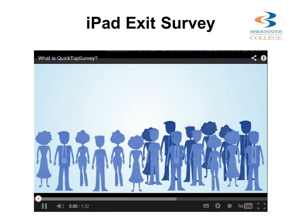 iPad Exit Survey