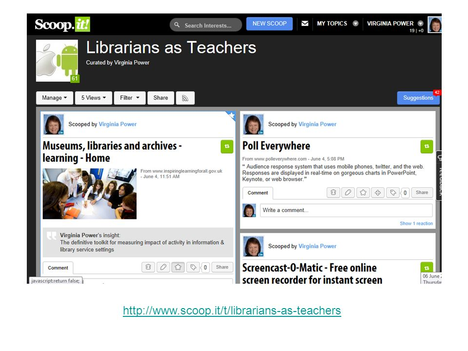 http://www.scoop.it/t/librarians-as-teachers