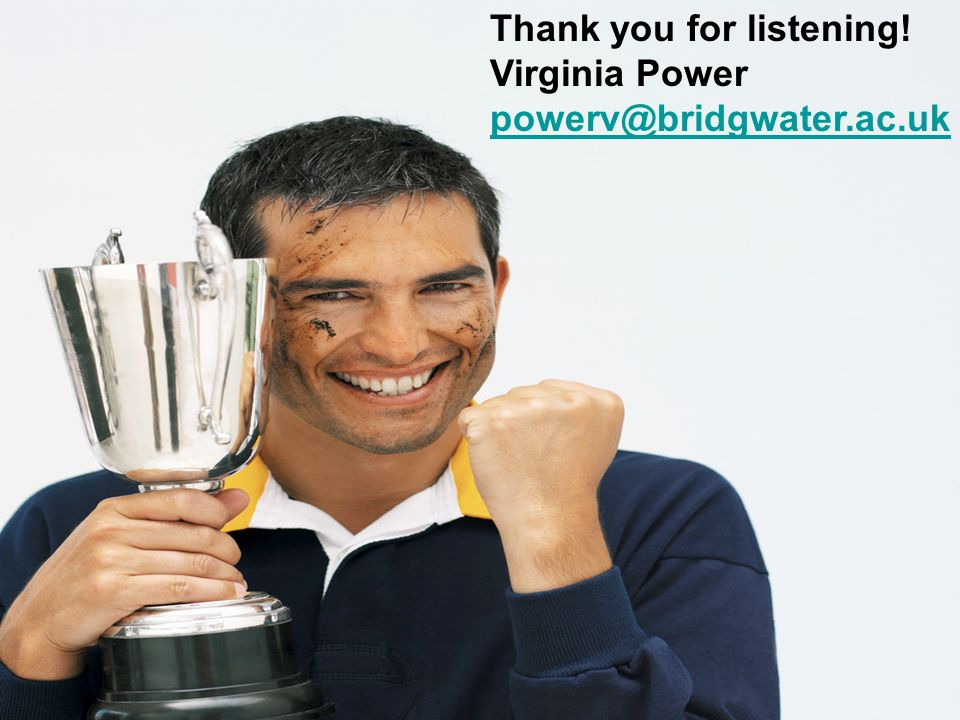 Thank you for listening! Virginia Power powerv@bridgwater.ac.uk