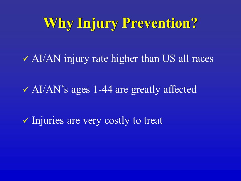 Why Injury Prevention.