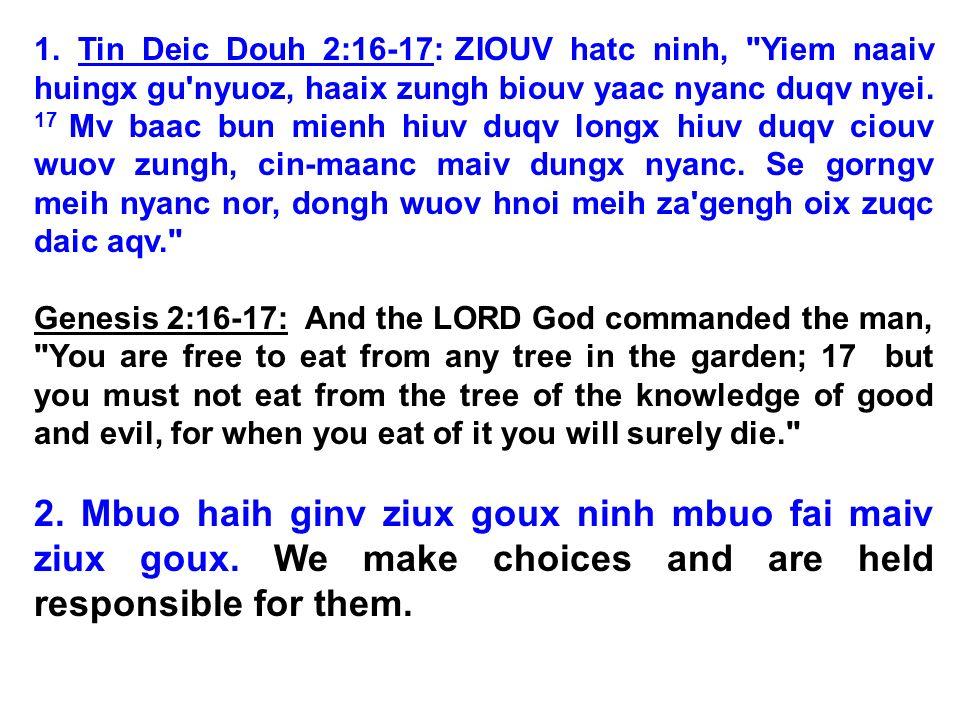 1. Tin Deic Douh 2:16-17: ZIOUV hatc ninh,