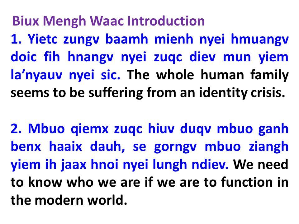 3.Tin-Hungh dau mbuo nyei waac se yiem Tin Deic Douh 1 caux 2 zaang.
