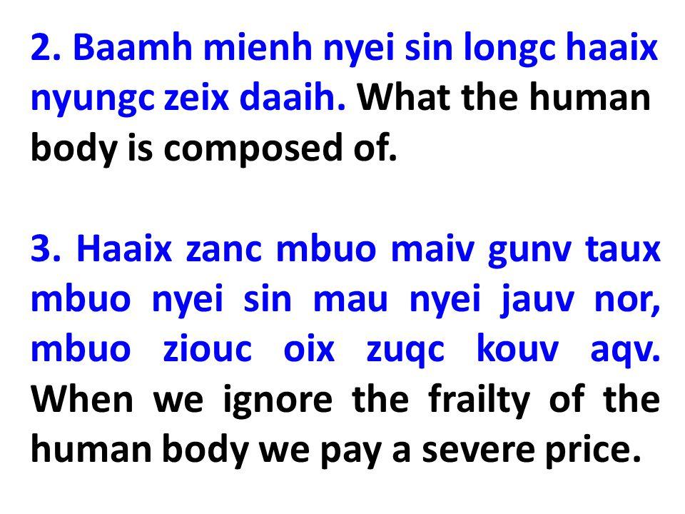 II Lingh Wuonh Nyei Sin (A Spiritual Being) 1.Maaih Tin-Hungh nyei fangx zeiv.