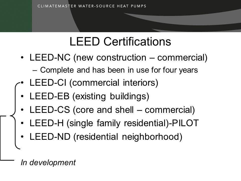 LEED-NC Seven prerequisites...