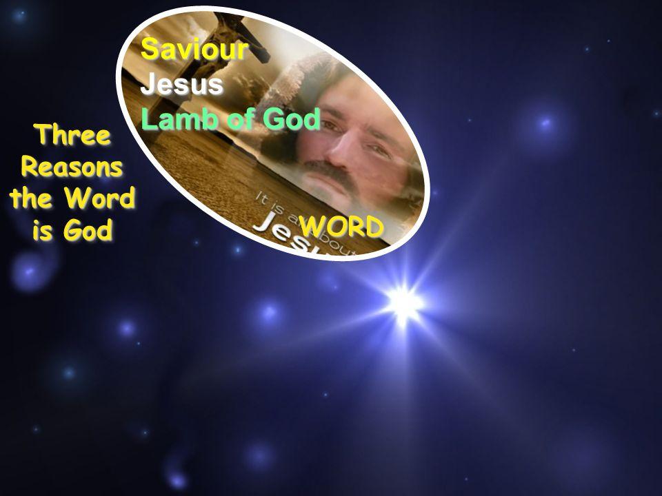 SaviourSaviour Three Reasons the Word is God JesusJesus WORDWORD Lamb of God