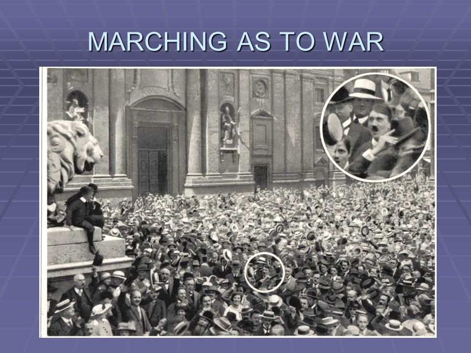 MARCHING AS TO WAR