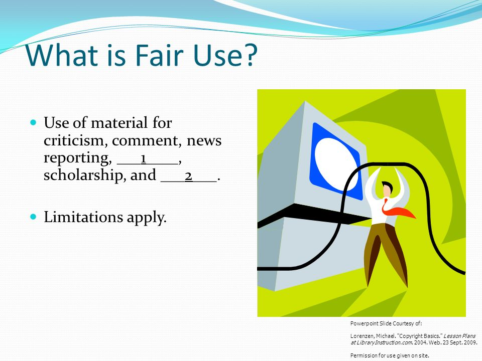 What is Fair Use.