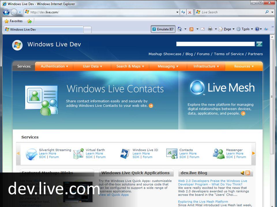 dev.live.com