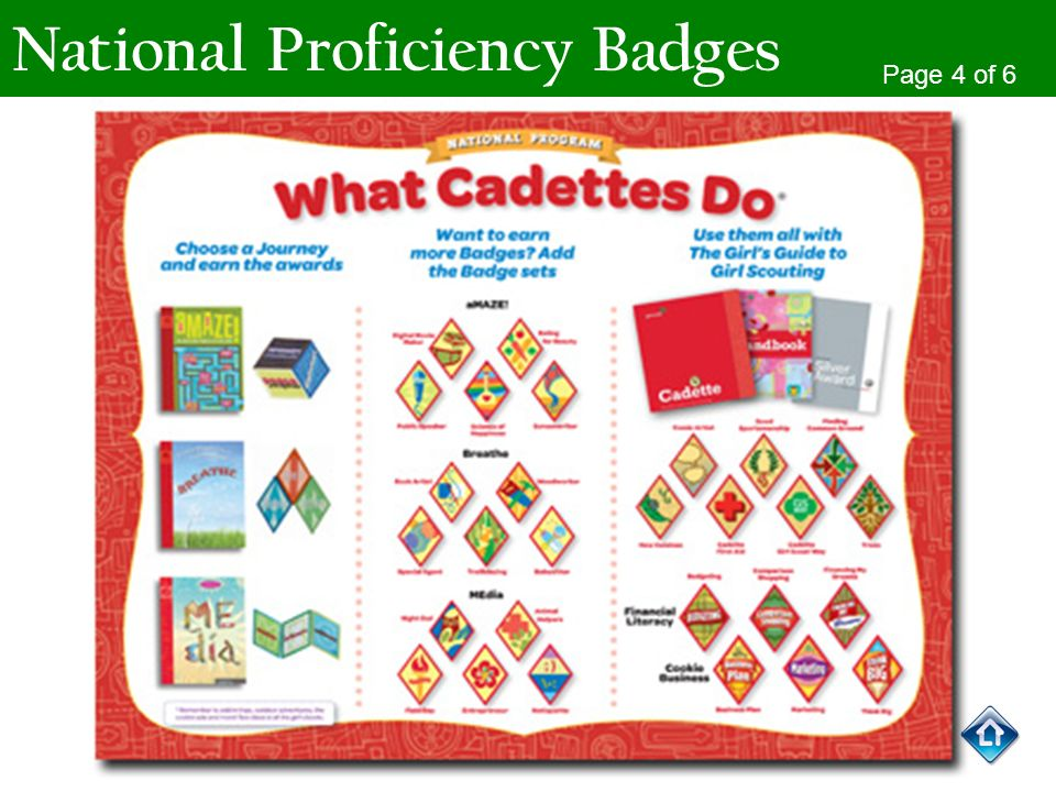 National Proficiency Badges Page 4 of 6