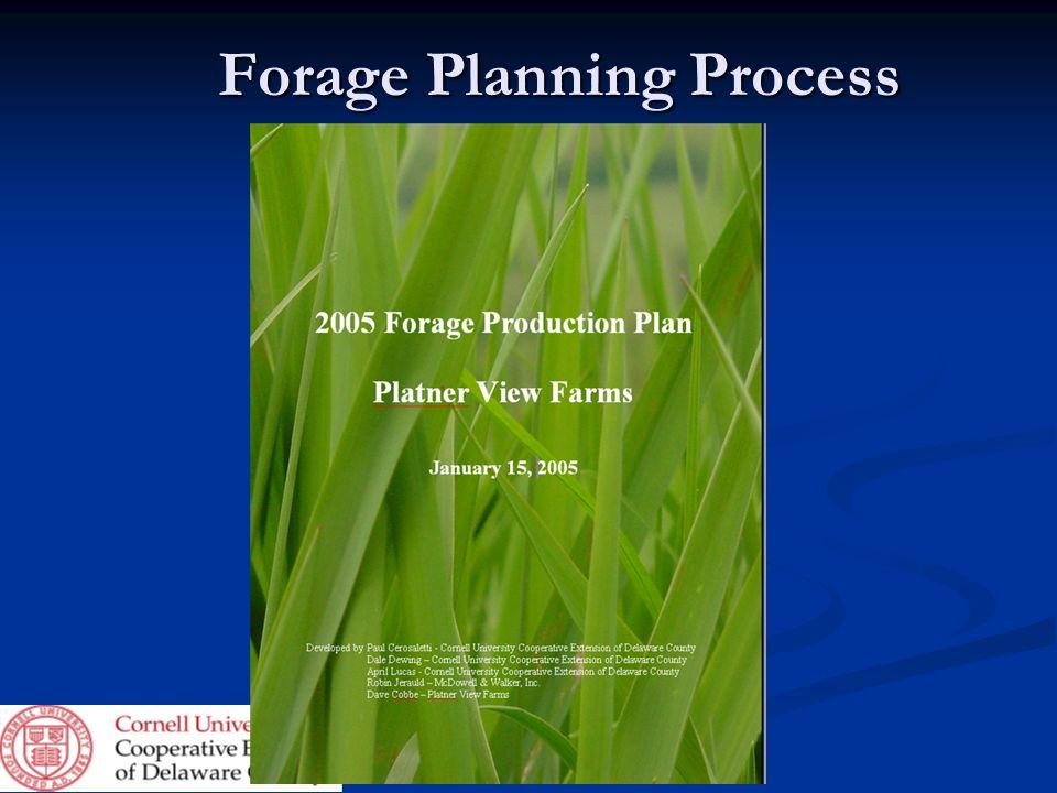 Forage Planning Process