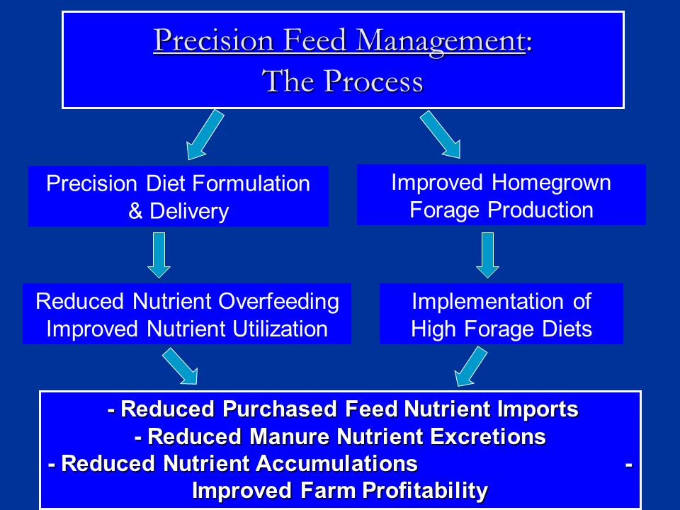 Precision Feed Management: The Process Precision Diet Formulation & Delivery Implementation of High Forage Diets Improved Homegrown Forage Production
