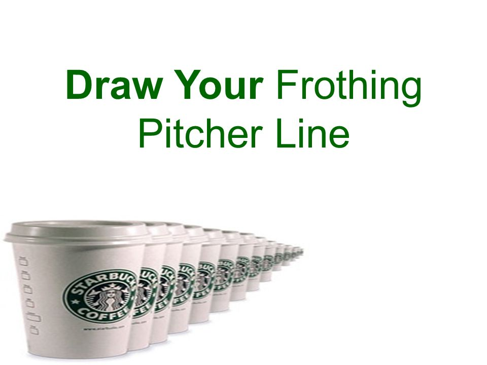 Draw Your Frothing Pitcher Line