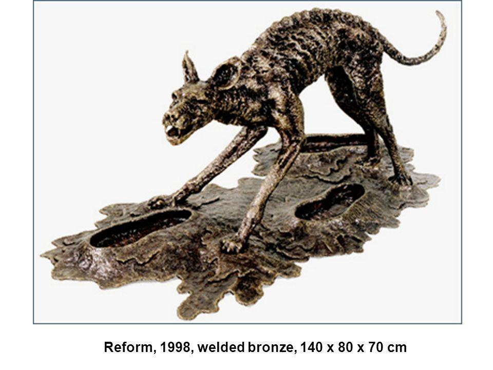 Reform, 1998, welded bronze, 140 x 80 x 70 cm