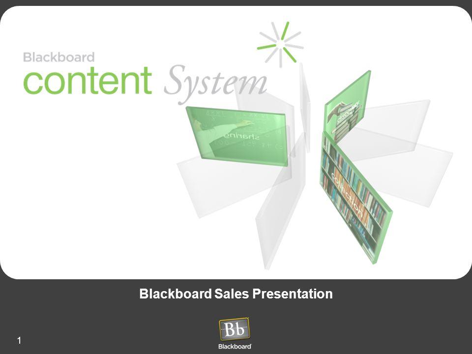 1 Blackboard Sales Presentation