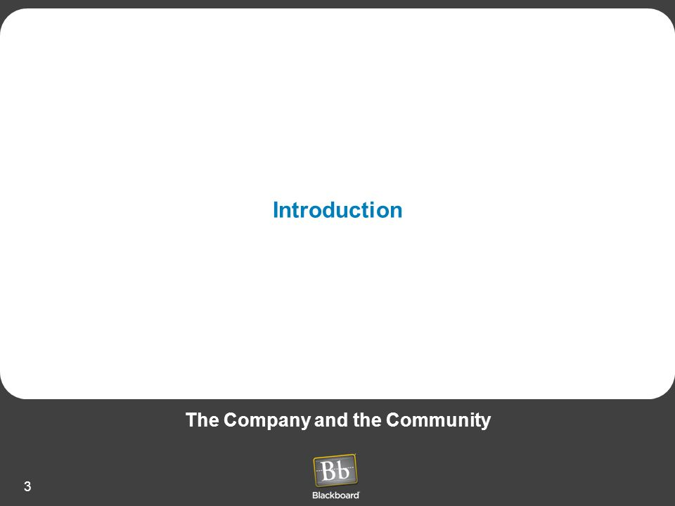 3 Introduction The Company and the Community