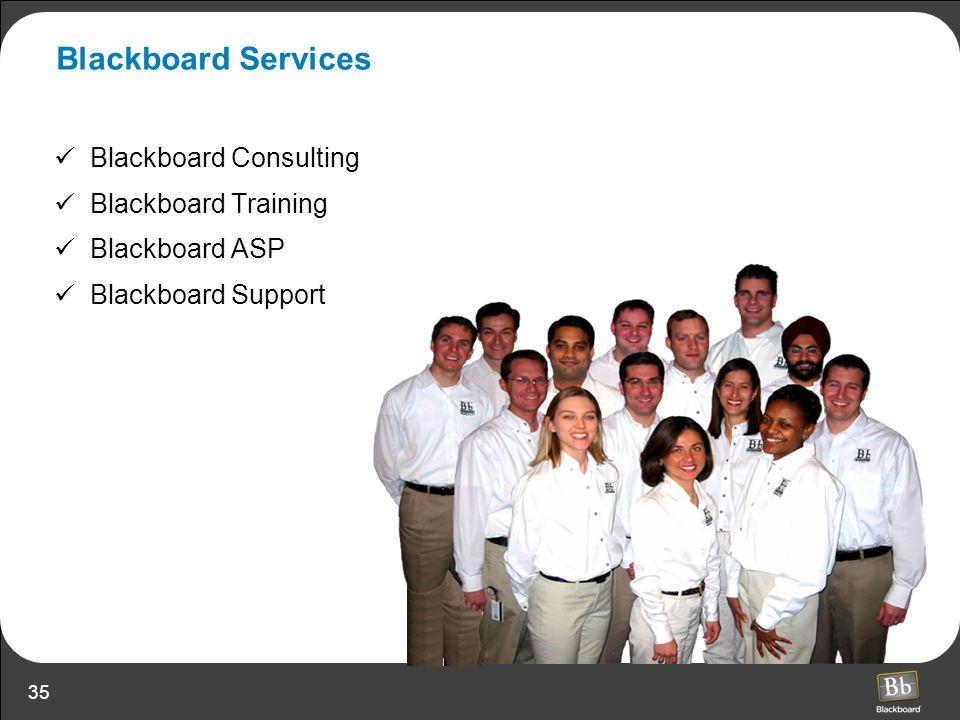 35 Blackboard Services Blackboard Consulting Blackboard Training Blackboard ASP Blackboard Support
