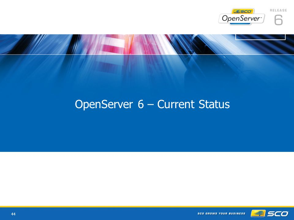 44 OpenServer 6 – Current Status