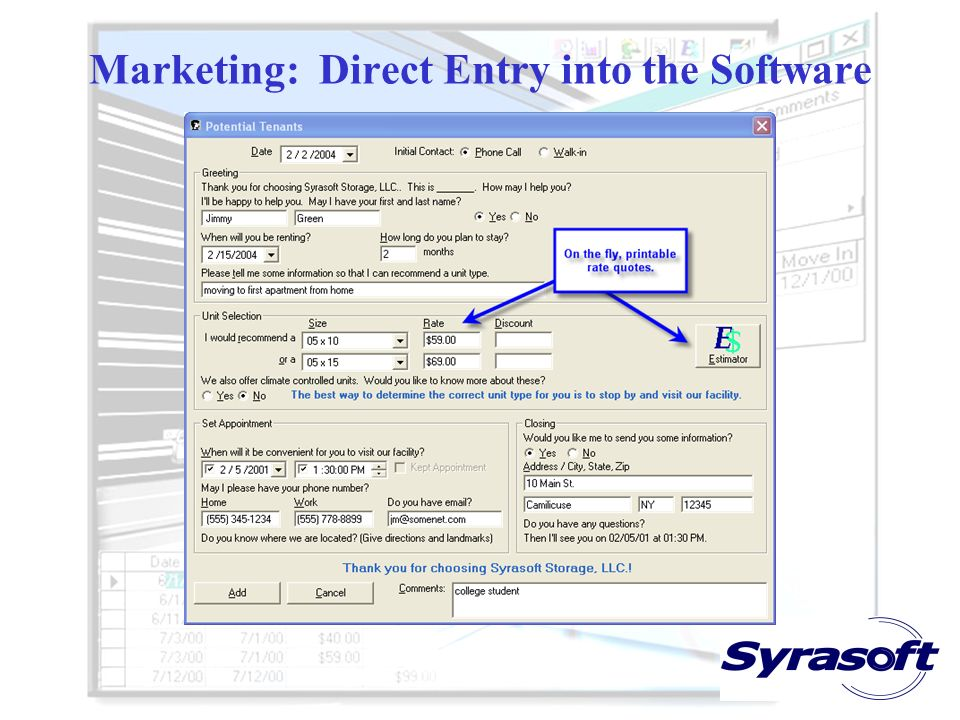 Marketing: Direct Entry into the Software