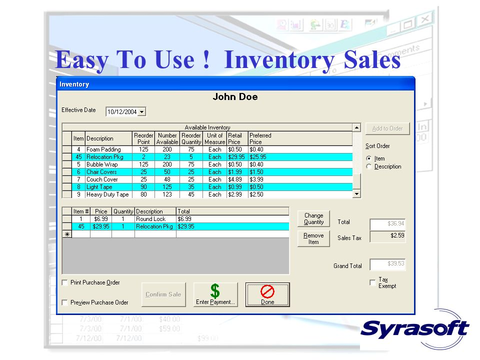 Easy To Use ! Inventory Sales