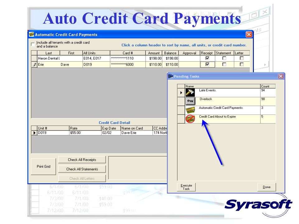 Auto Credit Card Payments Always swipe the card when its present Maintain separate merchant accounts for in- person swipe transactions Always include
