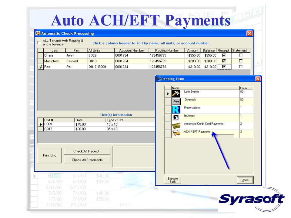 Auto ACH/EFT Payments