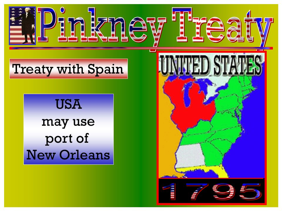 Treaty with England England causing USA trouble in the west & at sea -want money to stop Treaty is a failure