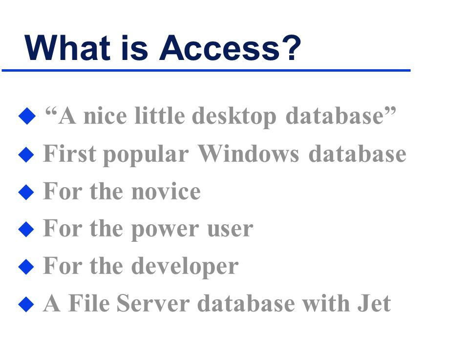 What is Access.