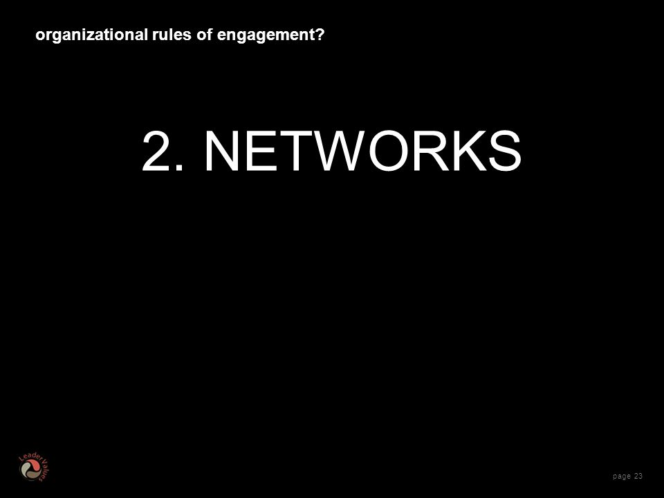page NETWORKS organizational rules of engagement