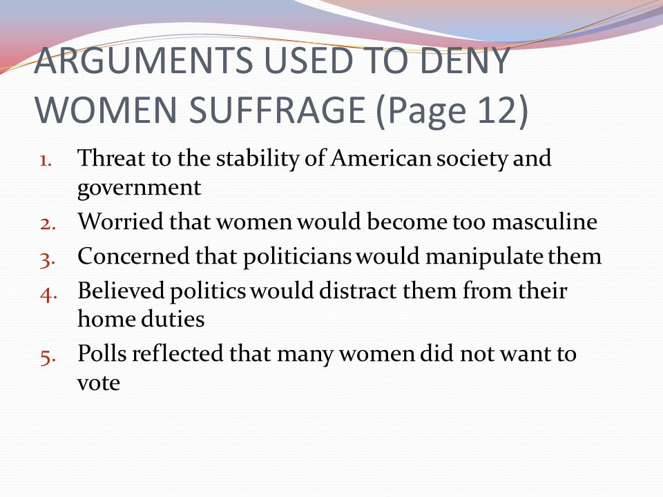 WOMENS SUFFRAGE (Page 13) 2.