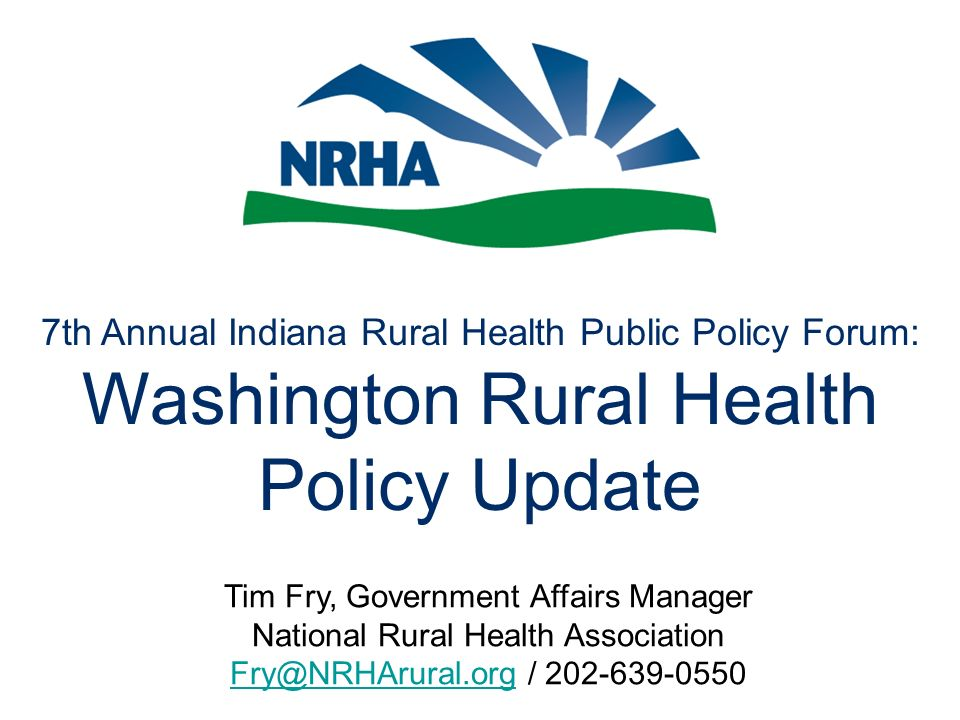 Agenda Change comes to Washington –New players and new power for old players –Regulations on hold… Health reform coming to Washington.