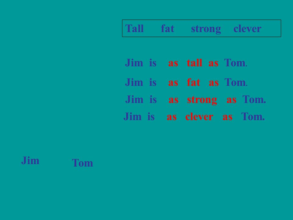EX3,Join up these sentences,using (not)as……as.1.Peter is 13 years old.Im 13 years old,too.