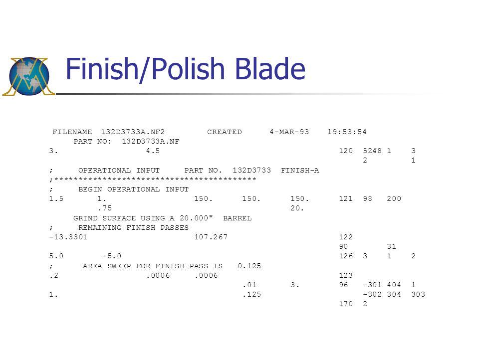 Finish/Polish Blade FILENAME 132D3733A.NF2 CREATED 4-MAR-93 19:53:54 PART NO: 132D3733A.NF 3. 4.5 120 5248 1 3 2 1 ; OPERATIONAL INPUT PART NO. 132D37