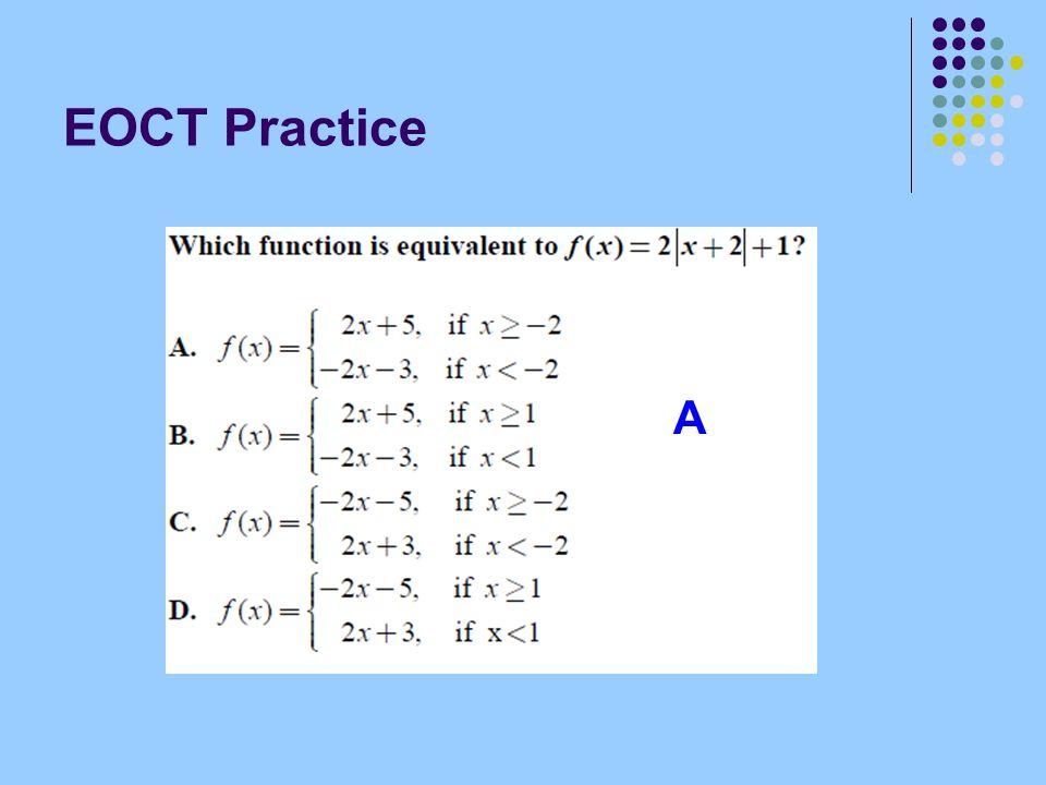 EOCT Practice A