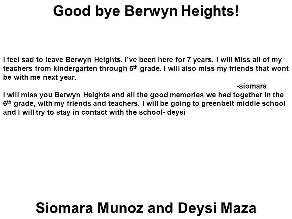 Siomara Munoz and Deysi Maza Good bye Berwyn Heights.