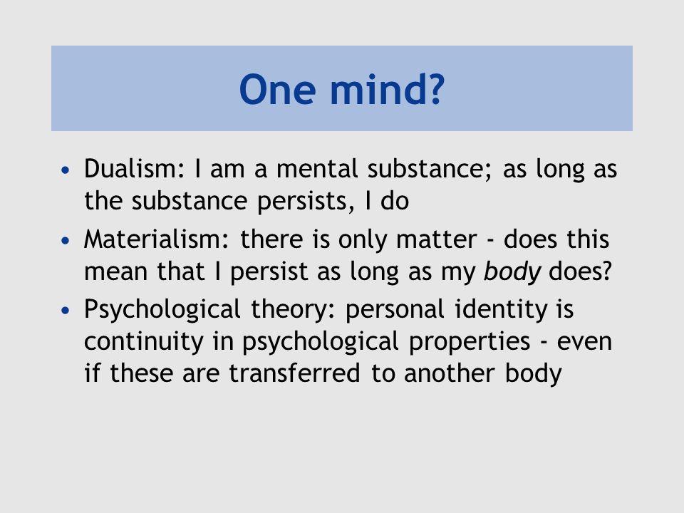 One mind.