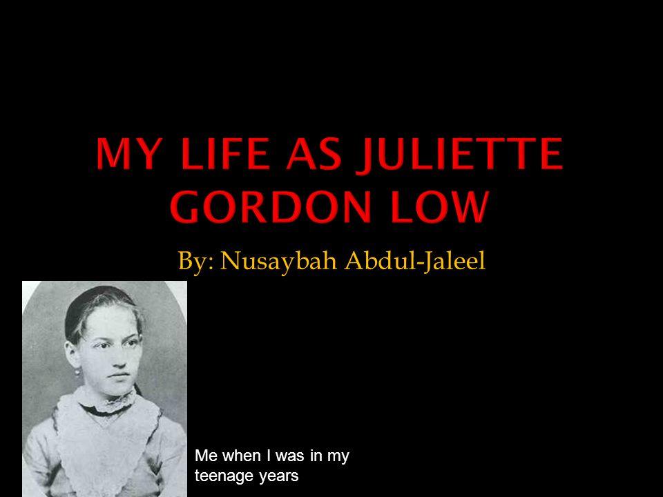 By: Nusaybah Abdul-Jaleel Me when I was in my teenage years