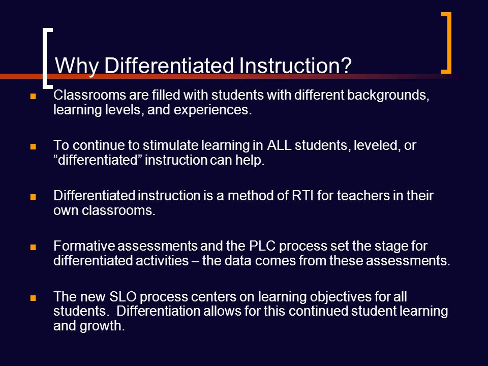 Why Differentiated Instruction.