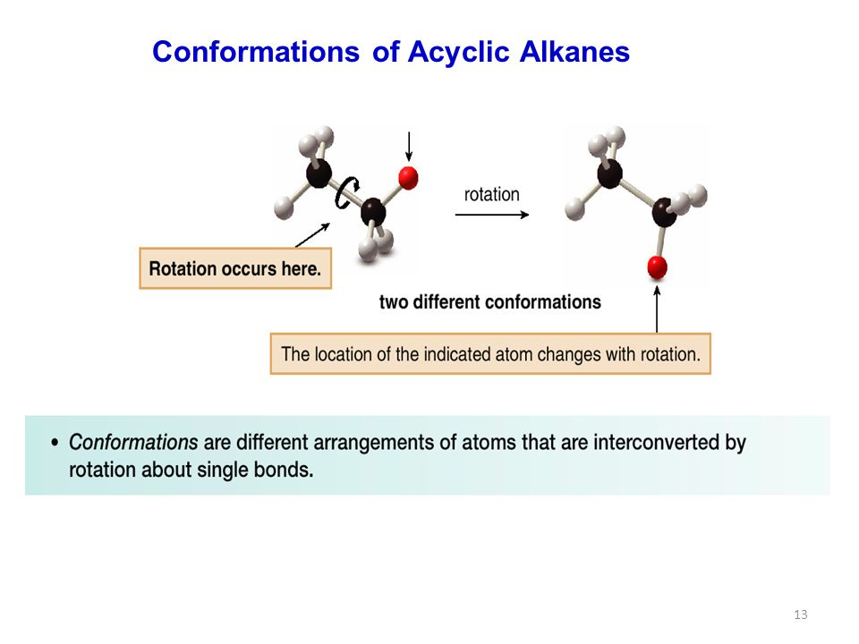 13 Conformations of Acyclic Alkanes