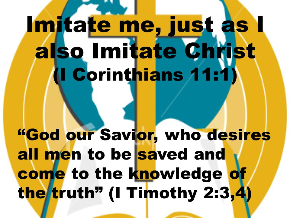 IMITATE To follow as a pattern or model; copy; reproduce; resemble; mimic Positive references in NKJV: I Cor.