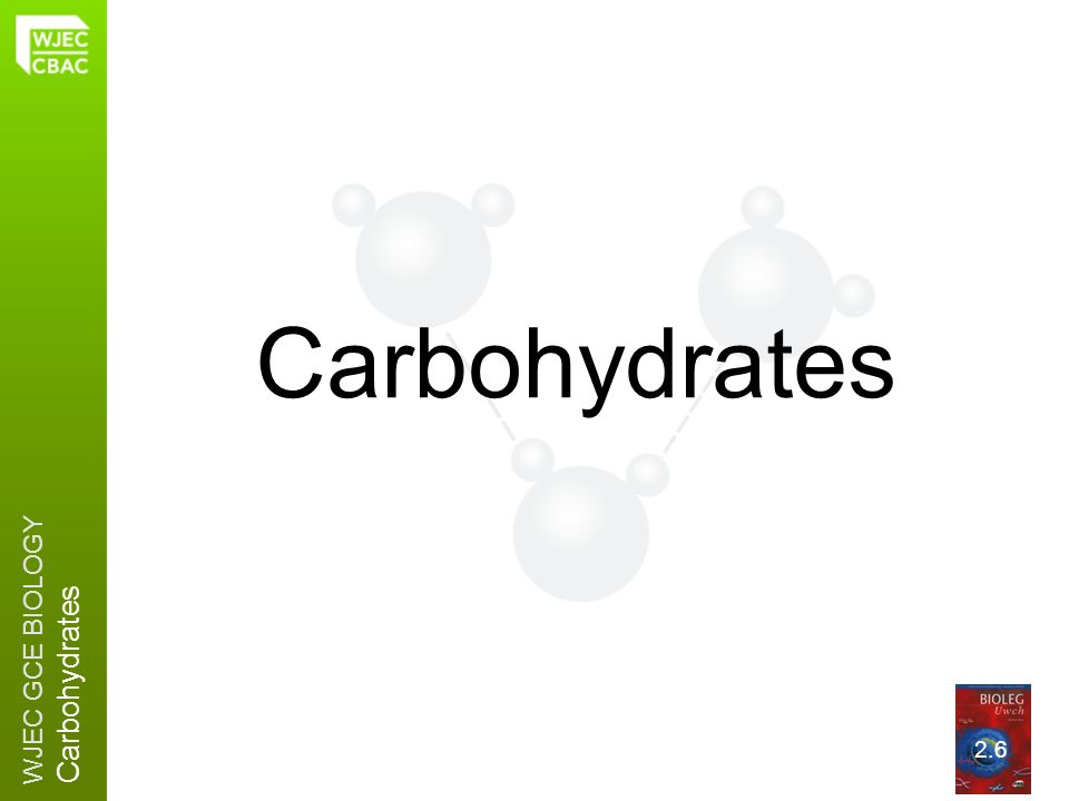 WJEC GCE BIOLOGY Carbohydrates 2.6