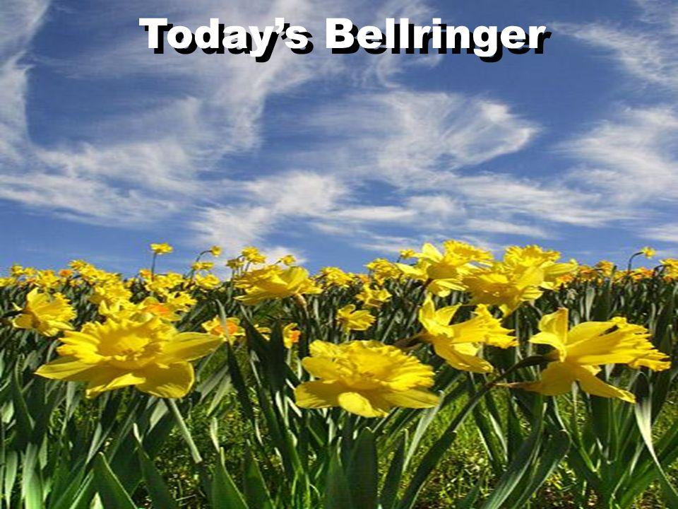 Todays Bellringer
