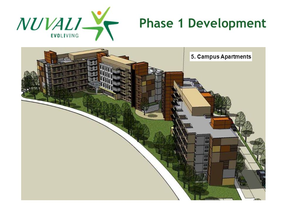 Phase 1 Development 5. Campus Apartments