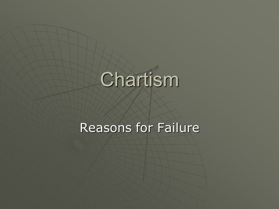 Chartism Reasons for Failure