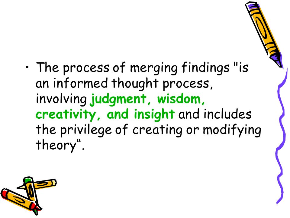 The process of merging findings