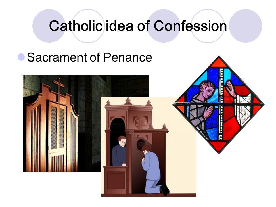 Catholic idea of Confession Sacrament of Penance