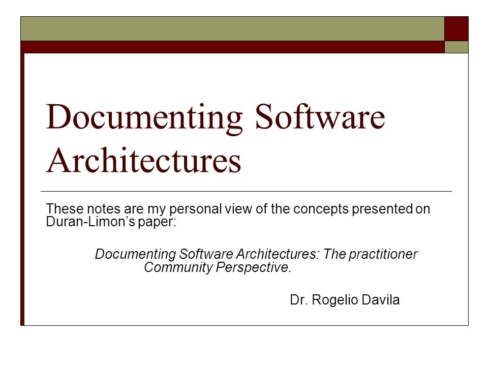 Software Architectures Software architecture is a discipline looking to reach higher abstraction levels for architecture design.