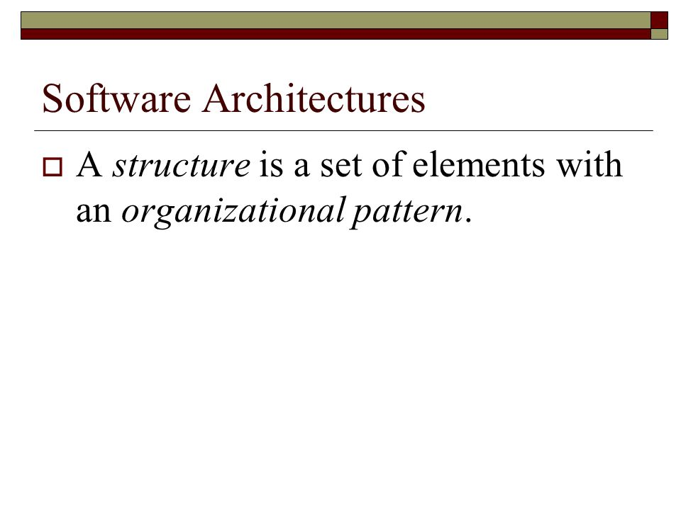 Documenting Software Architectures However, current practice for documenting software architectures is commonly informal and in many cases based in box-and-arrow notations.